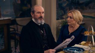 Toby Huss and Jane Krakowski in Dickinson Season 2