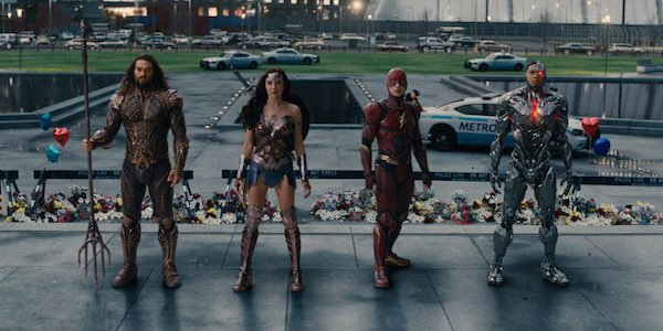 Aquaman, Wonder Woman, Flash and Cyborg in Justice League