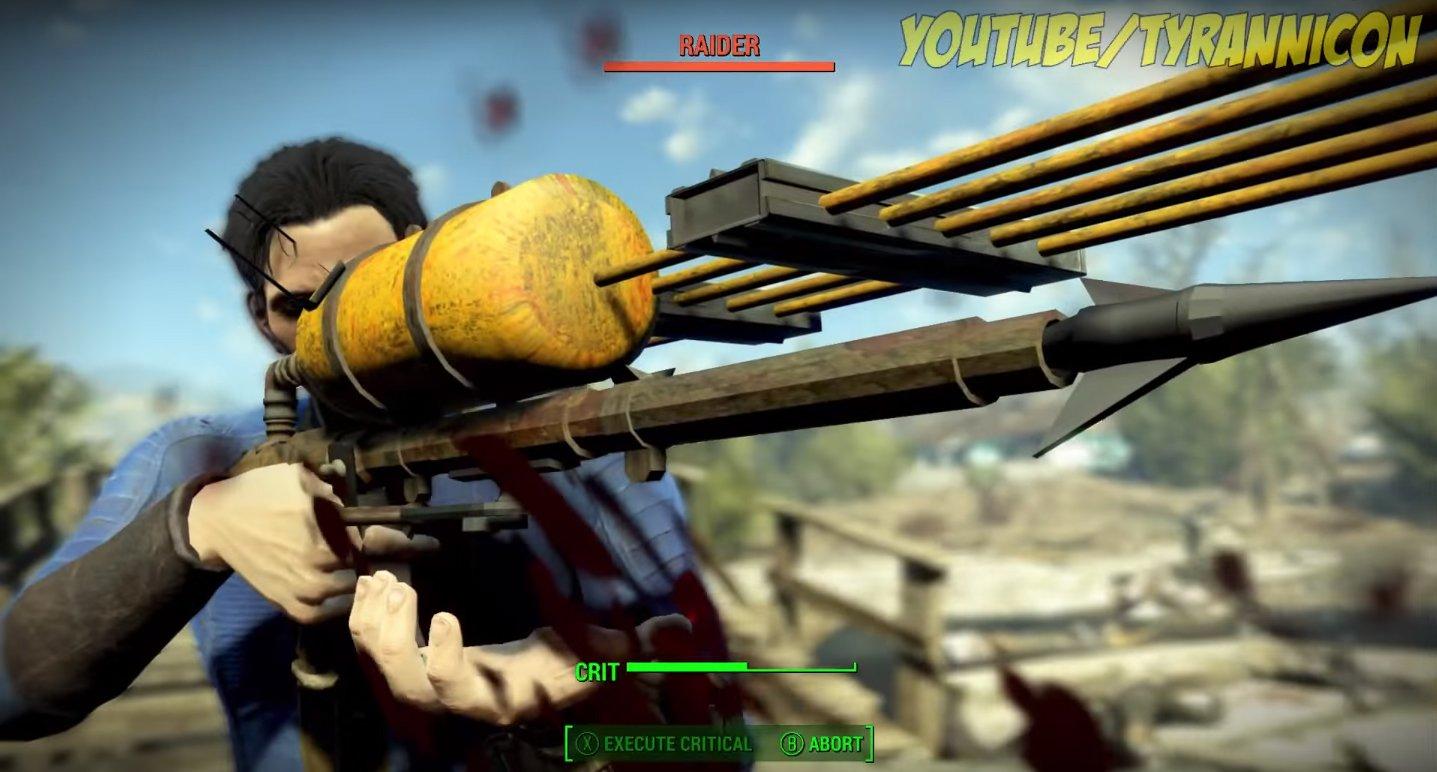 Fallout 4 Modder Found A Secret Harpoon Gun #34977