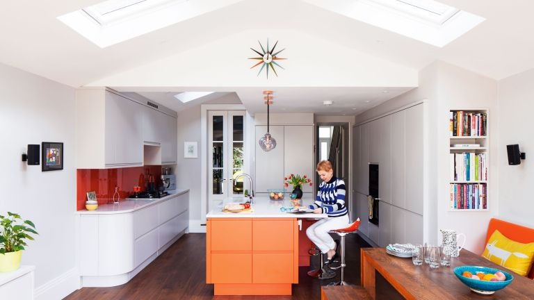 January 2020: Gillian Licari and John Denby doubled their kitchen space to create storage and a new place to relax