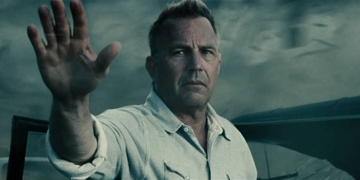 Man of Steel Kevin Costner signals for Superman to stand down