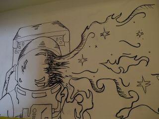 Mural at Mars Desert Research Station
