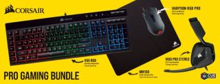 Clearance sale: get a Corsair keyboard, mouse, headset, and mouse pad for $80