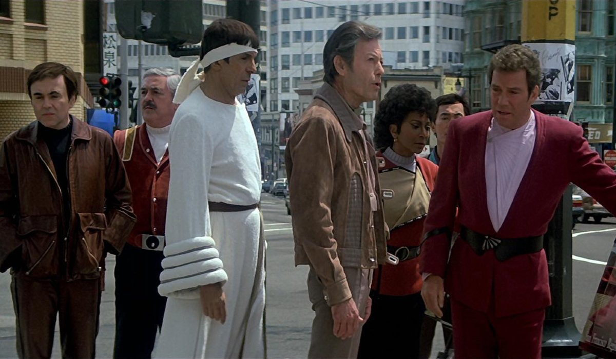 Star Trek IV: The Voyage Home the Enterprise crew in 1986