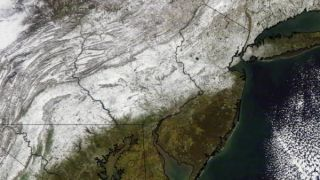 October Snowstorm from Space. This weekend's snowstorm set records.