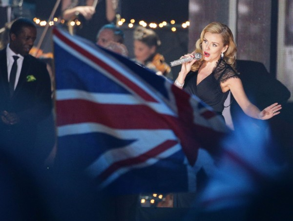 Katherine Jenkins during the VE Day 70: A Party to Remember concert on Horse Guards Parade