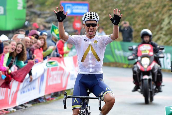 Stefan Denifl (Aqua Blue Sport) wins stage 17 at the Vuelta a Espana