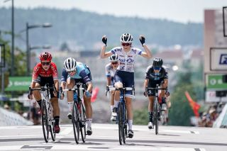 Evita Muzic wins the road race title at the French Championships
