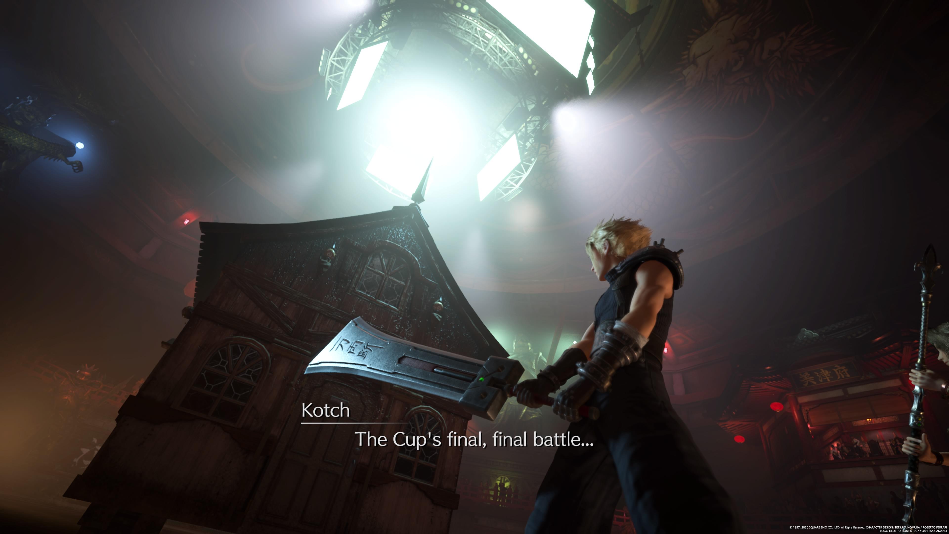 Final Fantasy 7 Remake Cloud and his sword