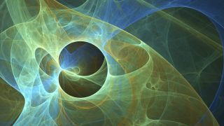 Abstract concept of string theory.