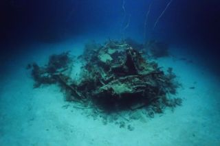 Wreck of World War II Plane