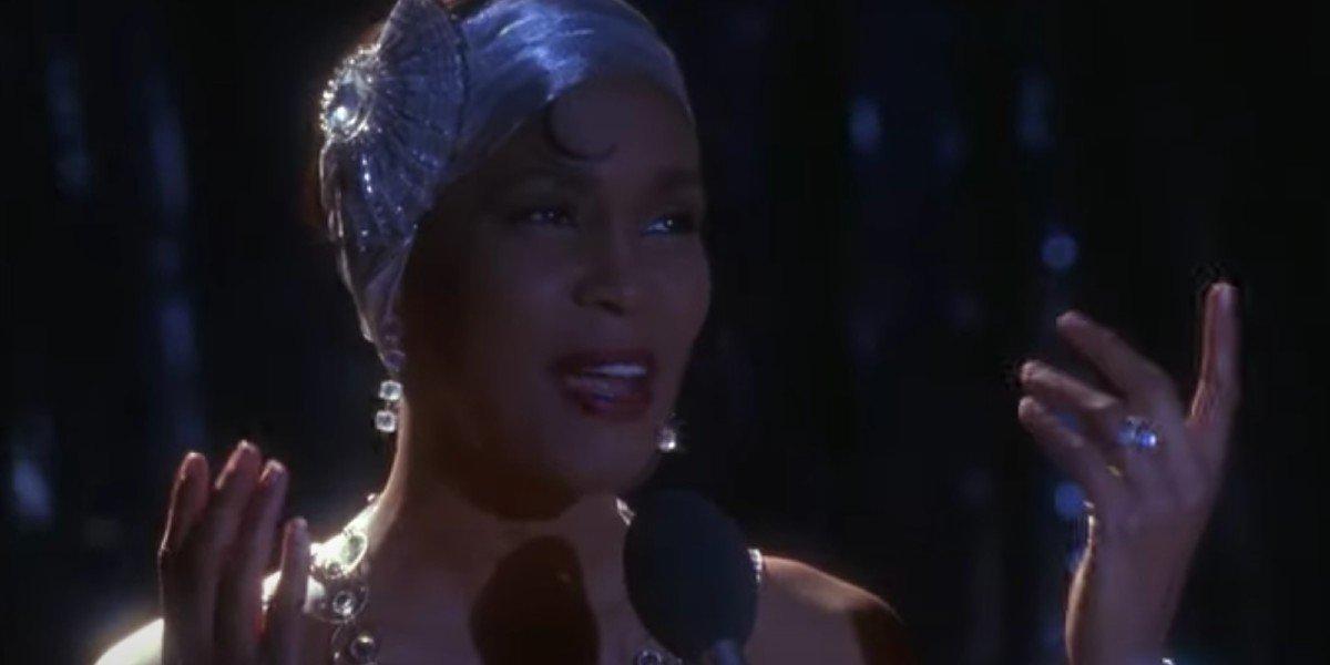Rachel Marron (Whitney Houston) sings in The Bodyguard (1992)
