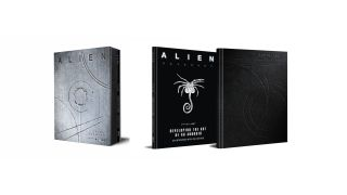 The slip case of Alien: Covenant - David's Drawings, plus the two books inside