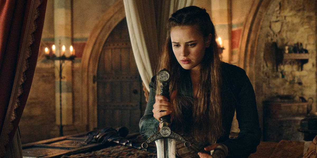 Katherine Langford as Nimue in Cursed.