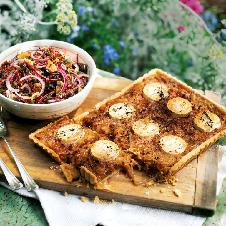 Caramelised Onion Tart with Goats Cheese and Thyme recipe-recipe ideas-new recipes-woman and home
