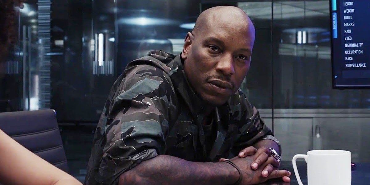 Tyrese Gibson as Roman Pearce in The Fate of the Furious (2017)
