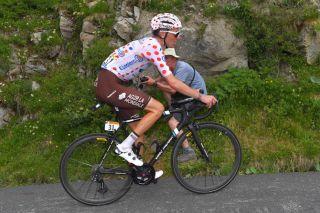 AG2R La Mondiale's Romain Bardet in the polka-dot jersey at the 2019 Tour de France