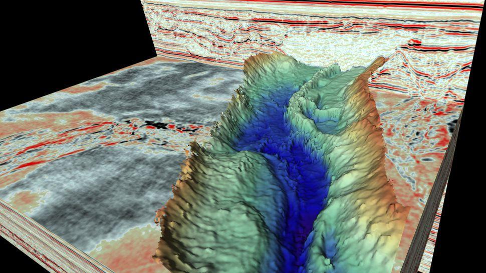 Những thung lũng và vách đá ngoạn mục ẩn dưới Biển Bắc