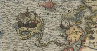 sea serpent attacking ship