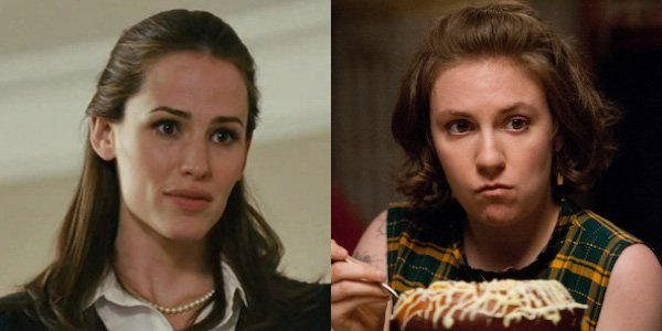 Jennier Garner in Juno, Lena Dunham in Girls