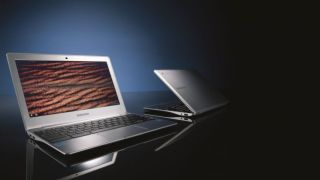 Samsung chromebook, two views