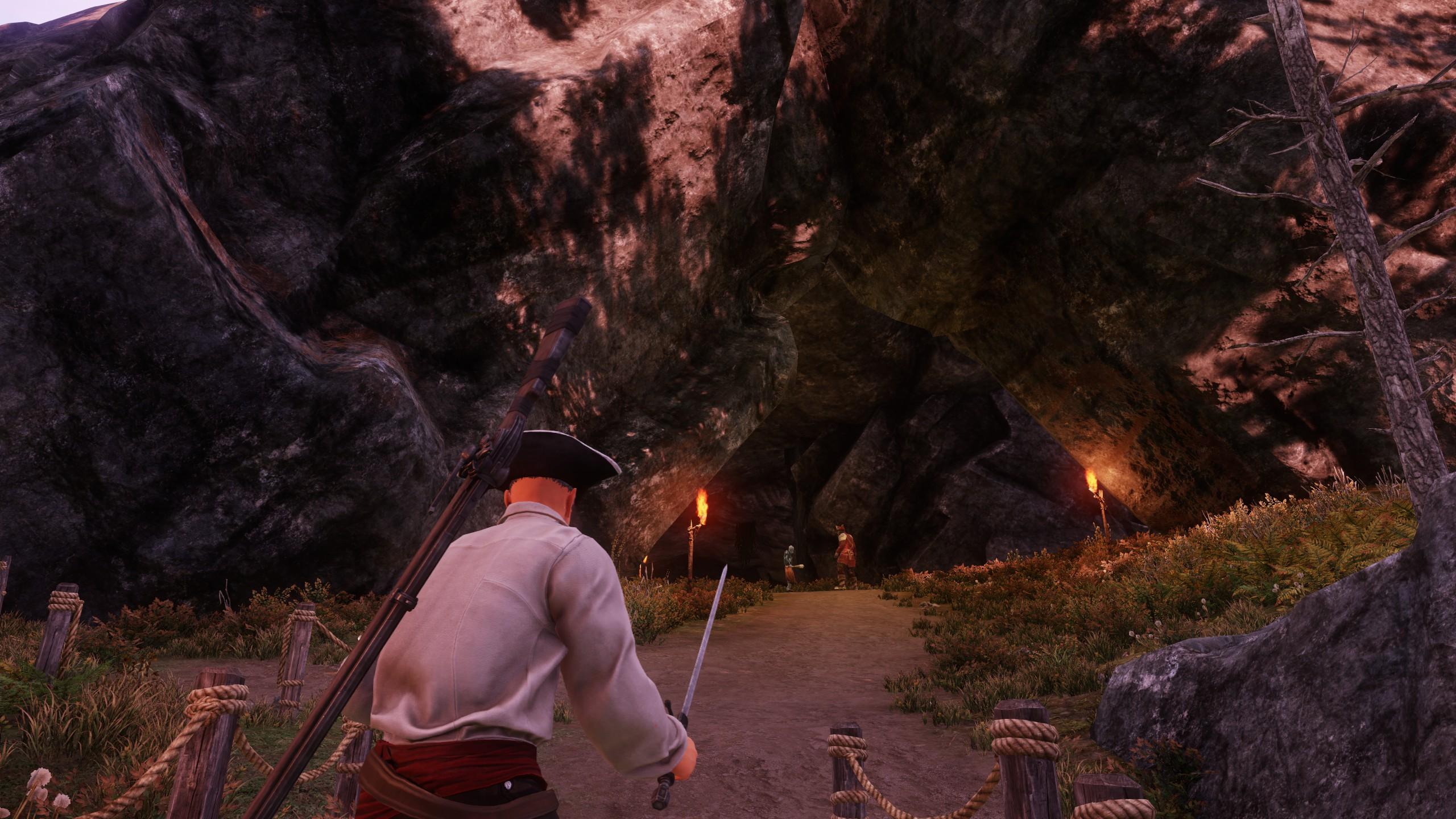 A large cave entrance
