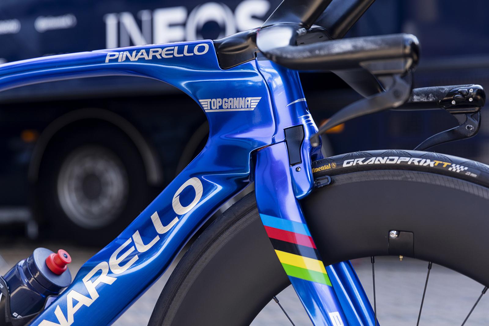 Filippo Ganna's new Pinarello Bolide TT for the Giro d'Italia