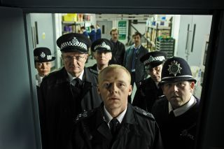 Simon Pegg and Nick Frost as cops