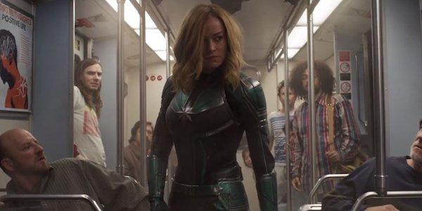 Captain Marvel on subway