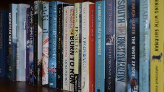 shelf of adventure books