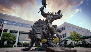 Blizzard's orc statue