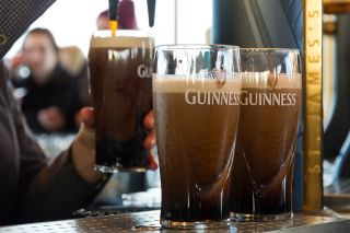 Guinness being served at The Guinness Brewery in Dublin, Ireland.