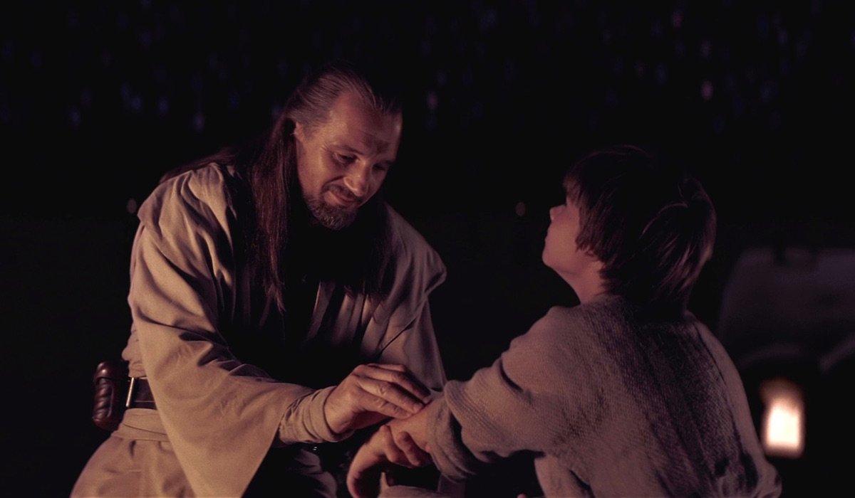 Qui-Gon Jinn and young Anakin Skywalker