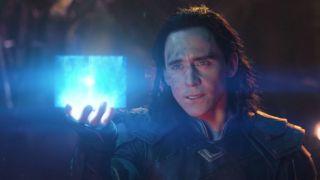Loki with the Tesseract in Avengers: Infinity War