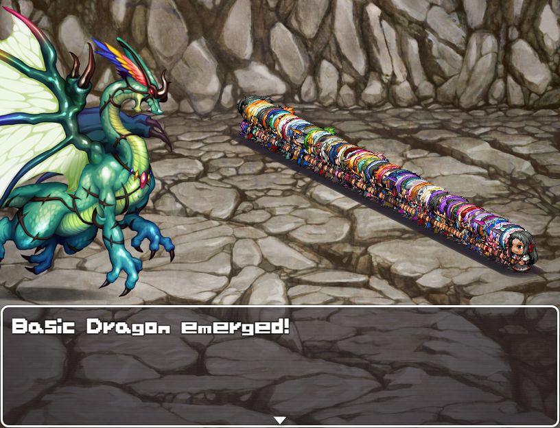 "99 adventurers face a ""basic dragon"""