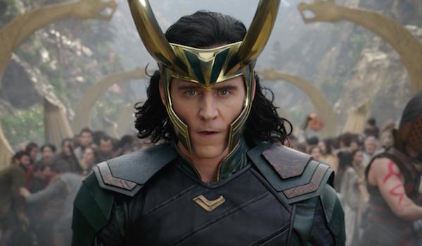 Loki wearing horned helmet in Thor: Ragnarok