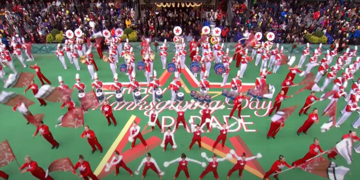 The Plano Texas Planoettes perform at the 2019 Macy's Thanksgiving Day Parade