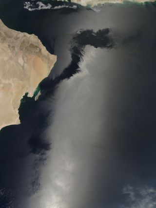 sunglint in the arabian sea