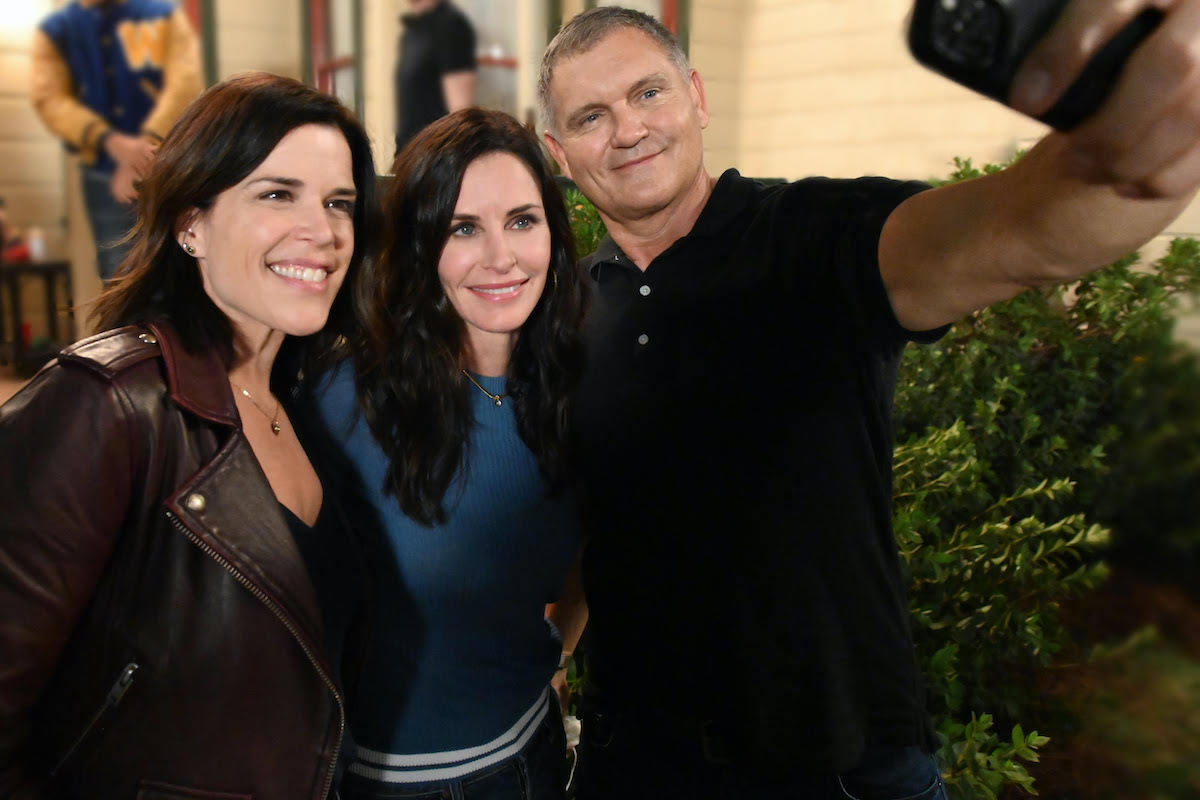 Neve Campbell, Courteney Cox, and Kevin Williamson