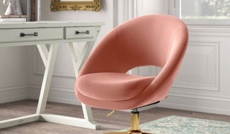 Kelly Clarkson Home Lourdes Velvet Task Chair
