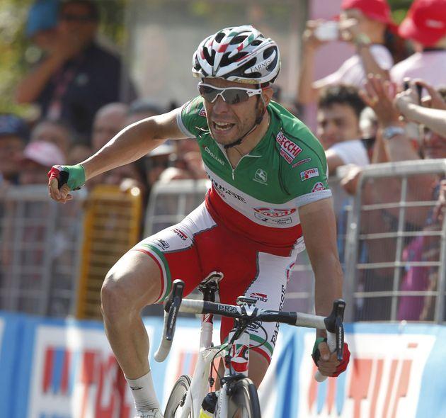 Giovanni Visconti at finish, Giro d'Italia 2011, stage 17