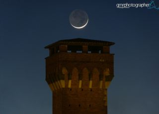 Moon Rises Over Citadel by Giuseppe Petricca