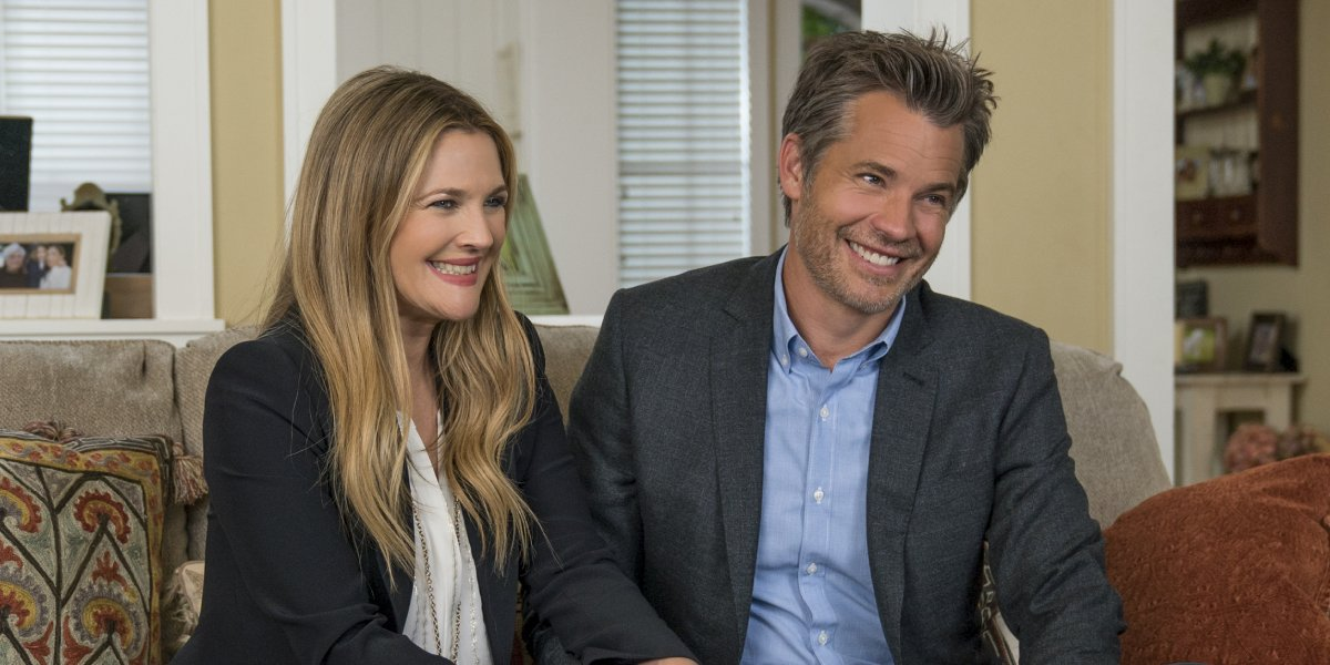 Drew Barrymore and Timothy Olyphant on Santa Clarita Diet