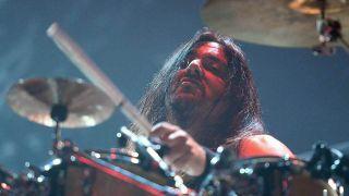 Gene Hoglan drumming with Testament