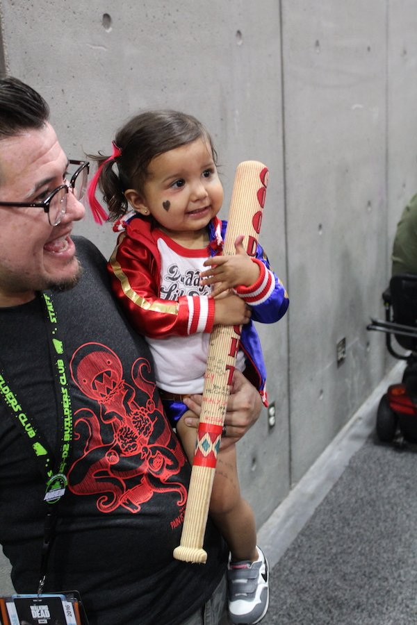 SDCC costume toddler harley quinn