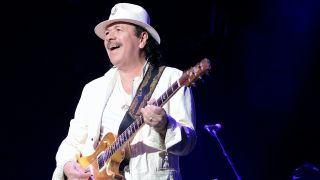 Carlos Santana during the Santana Divination Tour 2018 at the Cape Town Stadium on April 11, 2018 in Cape Town, South Africa