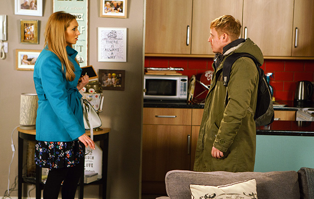 Eva is shocked when finds Lee in the florist's flat while on her mission to find Billy