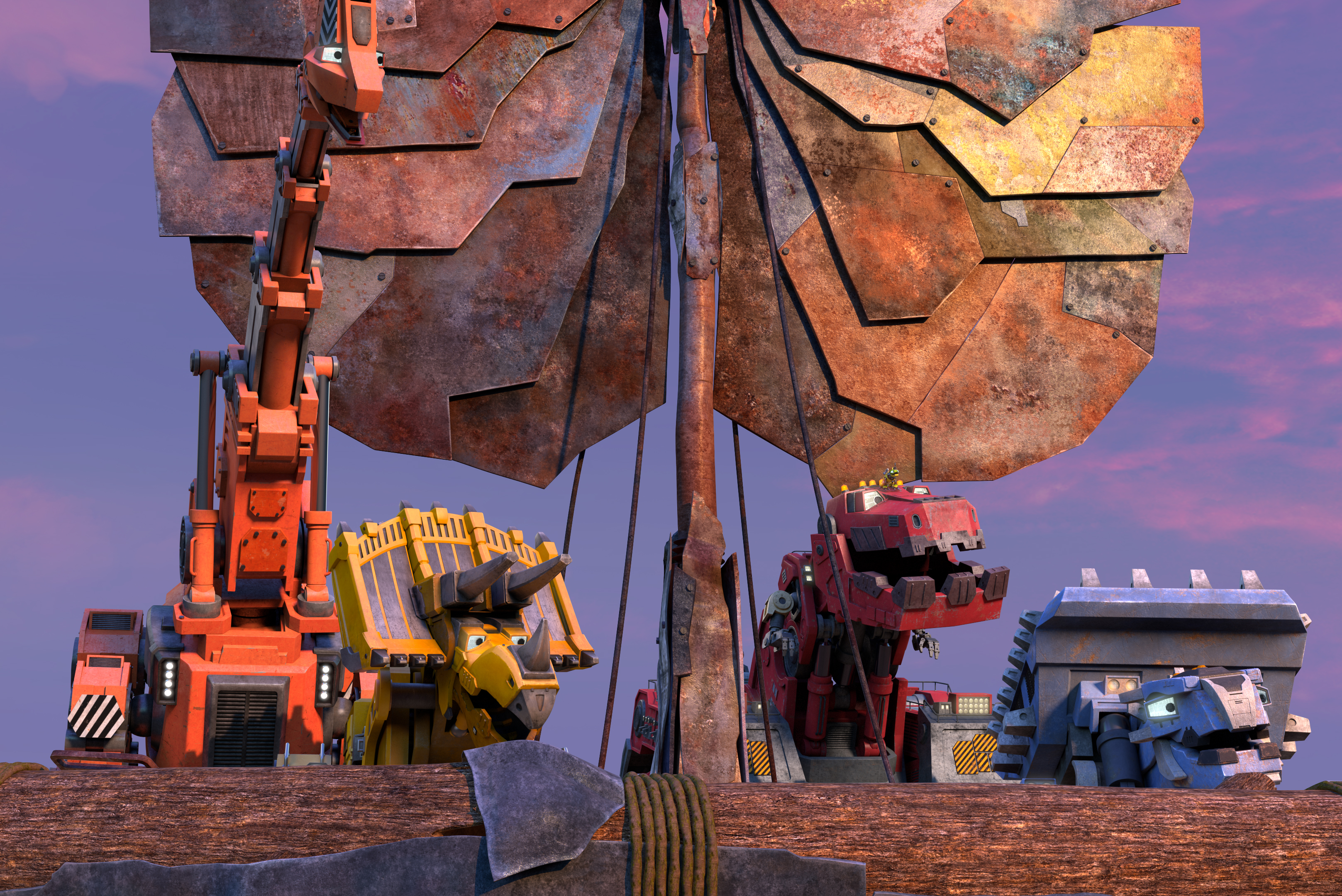 The stars of Dinotrux