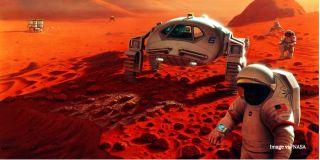 Colonizing Mars art