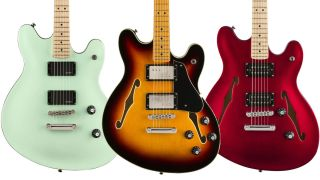 Squier Starcaster electric guitars